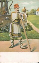 Balkan Man In Traditional Costume Ethnic Pc 1900s Pc