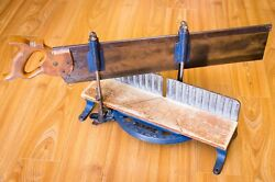 Vintage Stanley 50 1/2 Mitre Box With Warranted Superior Saw