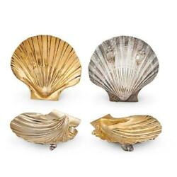 Aspery Sterling Silver Shell Dishes, 20th C..