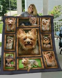 Yorkshire 3D Picture Frames I Love My Yorkshire Fleece Blanket 50-80 Made In US