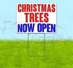 Christmas Trees Now Open Yard Sign Corrugated Plastic Bandit Lawn Decorations