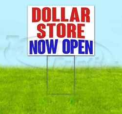 Dollar Store Now Open Yard Sign Corrugated Plastic Bandit Lawn Decorations