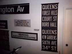 NYC SUBWAY ROLL SIGN BORO HALL 6 AVE. MANHATTAN QUEENS FOREST HILLS KEW GARDENS