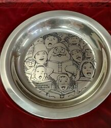 1972 Franklin Mint The Carolers Norman Rockwell Christmas Plate- Collectors