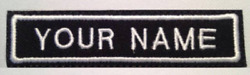 Custom Embroidery Text Embroidered Name Patches Any Color Great Patches 2 Lines