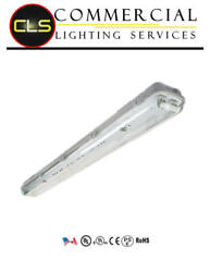 Led T8 Vapor Light Fixture With Tubes With Single Ended Power 100-277v