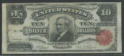 Fr301 10 1891 Silver Cert Tombstone Note Choice Vf Wlm8936