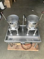 Groen Soup Steamer Kettle With Table And Faucet Model Tdc/3-20 Commercial