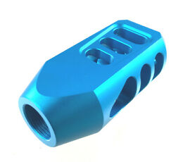 Hot 308 Heavy Duty Aluminum Blue Anodized Tanker Muzzle Brake 5/8x24 Tpi