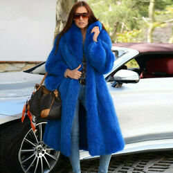 Womenand039s Real Vulpes Fox Fur Coat Fashion Winter Overcoat Loose Long Outerwear
