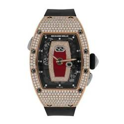 Richard Mille RM-037 Rose Gold Pave Diamond Automatic  34MM Watch RM-037