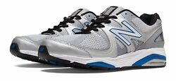 New Balance Men's 1540v2 Shoes Silver with Blue