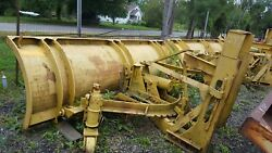 10 Ft. Gledhill Snow Plow Snowplow Power Angle 29 Husting Hitch Turn 37