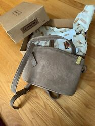 Vintage Coach Bag New in Original Box Tan Pebbled Leather Crossbody Shoulder $105.02