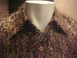 Nwt Mens Creme De Silk Semi-sheer Shirt Style Whiskers 6010 Rare Different Large