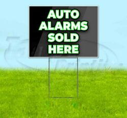 Auto Alarms Sold Here 18x24 Yard Sign Corrugated Plastic Bandit Lawn Usa