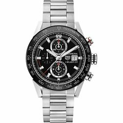 Tag Heuer CAR201Z.BA0714 Carrera 43MM Men's Chronograph Automatic Steel Watch