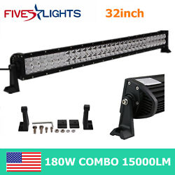 32inch 180w Screw Led Light Bar Off-road Spot Flood Combo Truck Ute Ford Suv 4wd