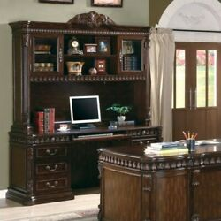 Coaster Union Hill Double Pedestal Computer Desk in Rich Brown