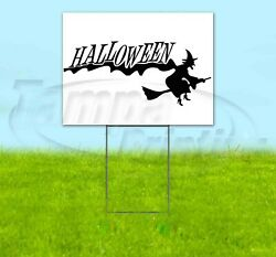 Halloween 18x24 Yard Sign Corrugated Plastic Bandit Lawn Business Usa Witch