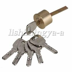 Brass Replacement Mortise Rim Cylinder Door Night Latch Lock Line Shaped