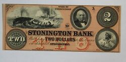 2 Stonington Bank State Of Connecticut Remainder Note Choice Cu Ct-3170-10