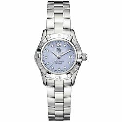 Tag Heuer Waf1419.ba0824 Aquaracer 28mm Womenand039s Diamond Stainless Steel Watch