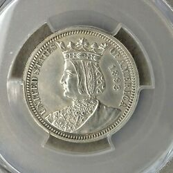 1893 Quarter Dollar Worlds Colombian Expo Isabella Pcgs - See Details Rg-102