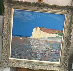 John Myatt Low Tide At Pourville In The Style Of Claude Monet