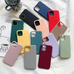 Soft Matte Case For Iphone 12 11 X Xr Xmax 6 7 8 Slim Tpu Rubber For Apple Cover