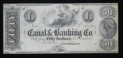Canal And Banking Co. 50 New Orleans Louisiana Remainder Note La 1570-50