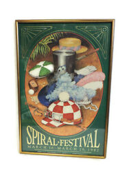 Framed Turfway Park Spiral Stakes Festival Poster Horse Racing March 16-29 1987