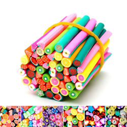 50pcs 3d Nail Art Canes Stick Rods Polymer Clay Stickers Decoration5x50mm