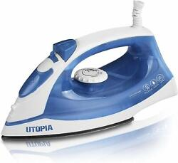 Steam Iron 1200 Watt Nonstick Sole plate Portable Small Size Utopia Home