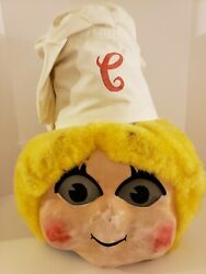 Rare Vintage Campbell's Soup Mascot Advertising Head Soup Kid Costume Mask