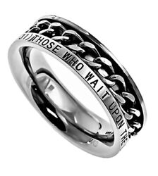 Polished Stainless Steel Women's Spinning Chain Ring Isaiah 4031 New Strength