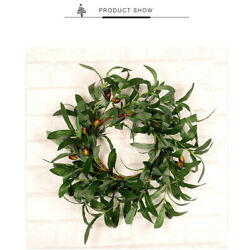 Olive Leaf Ring for Thanksgiving Home Party Decor Door Wall Window Green Wreath