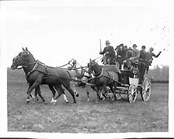 E Ambrose Clark Arriving At Meadow Brook Hunt Cup 1939 Bandw Photo