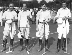 Polo At Meadow Brook 1934 Bandw Photo