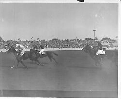 Tommy Hitchcock 'leading The Way At Meadow Brook' 1928 Bandw Photo