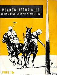 Meadow Brook Club Spring Polo Championships 1937