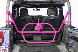 Fits Jeep Wrangler Jk Hot Pink Bumpers Tire Carrier Made In Usa J0046574