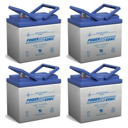 Power-sonic 12v 35ah Replacement Battery For Murray 30577x8a Lawn Mower - 4 Pack
