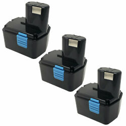 3x Replacement For Hitachi Eb1414s 14.4v 2ah Battery Eb1412s Bcl1830 Eb14b Eb14s