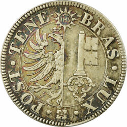 [485272] Coin Swiss Cantons Geneva 4 Centimes 1839 Prooflike Ms Silver