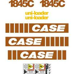 Case 1845c Early Series Case Decals Case Uniloader Stickers Kit Repro Set