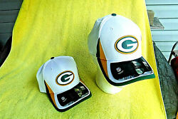 New W/stickers Nfl Green Bay Packers New Era 39/thirty Med./lg. Fitted Cap/hat