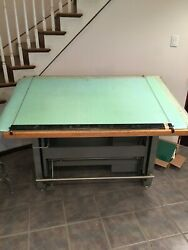 Vintage Mayline May-o-matic Drafting Table Desk Combo W/accessoriesandnbsp