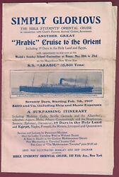 Vintage 1907 Bible Students Cruise To The Orient Brochure,