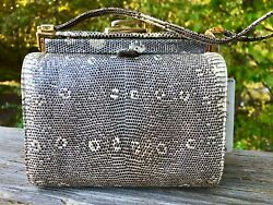 Judith Leiber Reptile Snakeskin Leather Women's Designer Handbag Purse Bag
